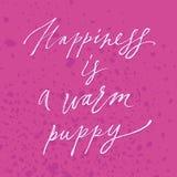 A felicidade da rotulação é Fotos de Stock