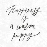A felicidade da rotulação é Imagens de Stock Royalty Free