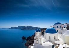 Felicidade de Santorini Imagens de Stock Royalty Free