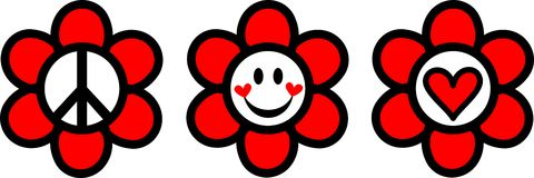 Felicidade do amor da paz Imagens de Stock Royalty Free