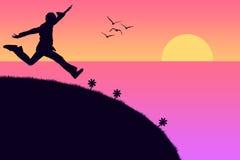 Felicidade do beira-mar Foto de Stock