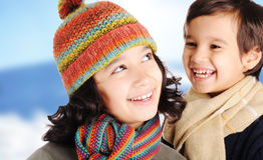 Felicidade do inverno Foto de Stock