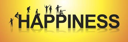 felicità illustrazione di stock
