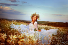 Felicità al tramonto Fotografia Stock Libera da Diritti