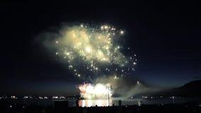 Felicità astratta di concetto di manifestazione del fuoco d'artificio stock footage