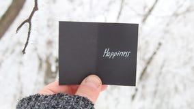 Felicità, concetto creativo di inverno stock footage