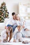 Felicità della famiglia fotografia stock