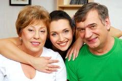 Felicità della famiglia Immagine Stock