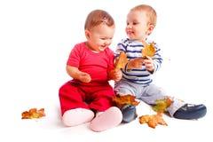 Felicità di autunno Fotografia Stock