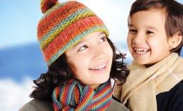 Felicità di inverno Fotografia Stock