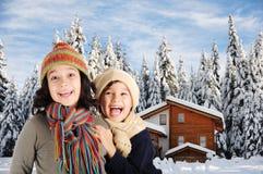 Felicità di inverno Fotografie Stock Libere da Diritti
