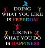 Felicità di libertà illustrazione vettoriale