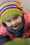 Felicità di una neonata Fotografie Stock
