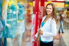 Felicità di shopaholic Immagine Stock