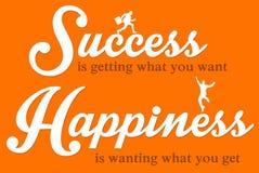 Felicità e successo Immagini Stock Libere da Diritti
