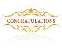 Felicitações Imagem de Stock