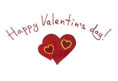 Felicitações ao dia de Valentim feliz Fotos de Stock
