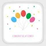 Felicitações card2 Imagens de Stock Royalty Free