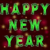 Felicitações com ano novo feliz Imagens de Stock Royalty Free