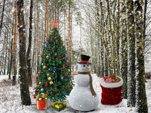 Felicitações com Natal e ano novo 2017 Fotos de Stock