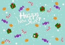 Felicitações do ano novo feliz Fotos de Stock