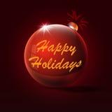 Felicitações em feriados no brinquedo do Natal ilustração do vetor