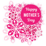 Felicitações em seu dia do ` s da mãe Em um fundo um teste padrão vegetativo Foto de Stock
