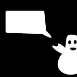Felicitações engraçadas de Ghost Dia das Bruxas Imagens de Stock