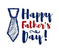 Felicitações felizes da rotulação do dia do ` s do pai Vetor Fotos de Stock