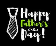 Felicitações felizes da rotulação do dia do ` s do pai Vetor Imagens de Stock