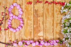 Felicitações o 8 de março Imagens de Stock