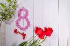 Felicitações o 8 de março Imagens de Stock Royalty Free