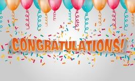 Felicitações do texto do vetor 3d Imagens de Stock Royalty Free