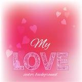 Felicitatieachtergrond voor de dag van Valentine Stock Foto