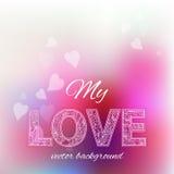 Felicitatieachtergrond voor de dag van Valentine Stock Fotografie