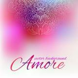 Felicitatieachtergrond voor de dag van Valentine Royalty-vrije Stock Foto