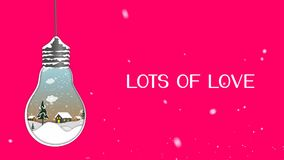 Felicitatiekerstmis videokaart Creeer een fantastische Kerstmislamp De winter, Kerstmis, nieuw jaar 3D animatie, Samenvatting bac stock video