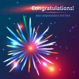 Felicitatievuurwerk Stock Afbeelding