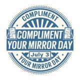 Felicite seu dia do espelho ilustração do vetor