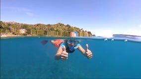 Felicite wyspa snorkeling zbiory wideo