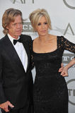 Felicity Huffman et William H macy Photographie stock libre de droits