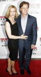 Felicity Huffman y estrellas de Guillermo H macy Foto de archivo