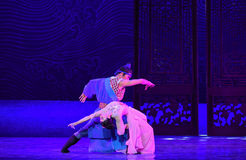 """Felicity of husband and wife-Dance drama """"The Dream of Maritime Silk Road"""" Royalty Free Stock Image"""