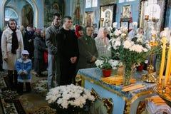 Feligreses ucranianos de la iglesia ortodoxa Imagen de archivo
