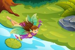 Felik fantasiillustration för flyg vektor illustrationer