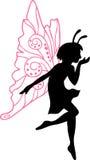 felik illustrationsilhouette Arkivbilder