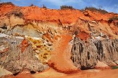 Felik ström - röd kanjon mellan Phan Thiet och Mui Ne vietnam royaltyfri bild
