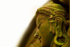 Felik stuckaturgudinna med grön mossa, Royaltyfri Foto