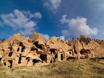 Felika lampglas i den Zelve dalen på Cappadocia, Turkiet Fotografering för Bildbyråer