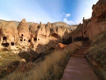 Felika lampglas i den Zelve dalen på Cappadocia, Turkiet Royaltyfri Fotografi